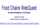 Webquest: Food chains | Recurso educativo 33667
