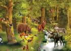 Puzzle Nivel 1: Animales del bosque | Recurso educativo 34313