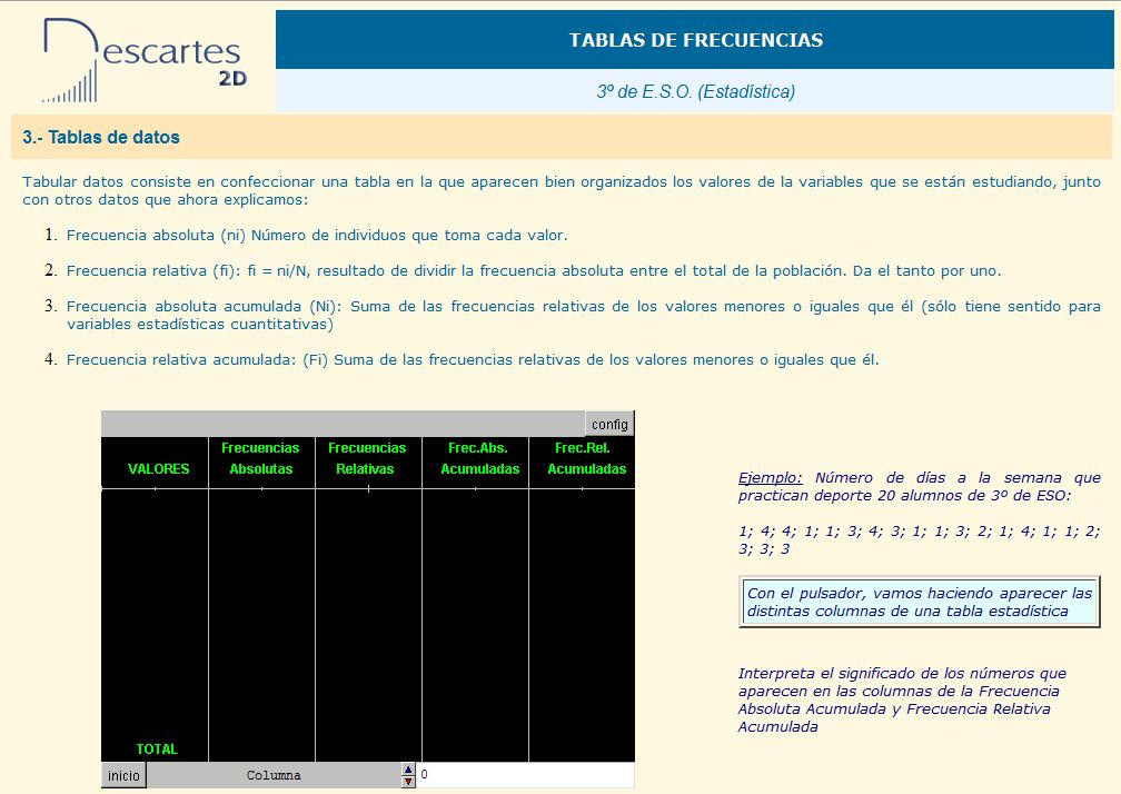 Tablas de datos | Recurso educativo 37286