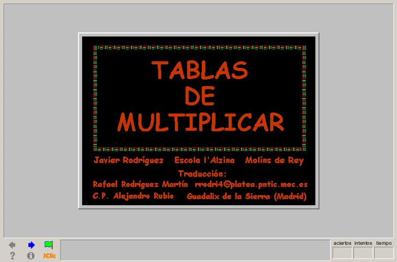 Las tablas de multiplicar | Recurso educativo 40466