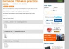 Common mistakes practice | Recurso educativo 40820