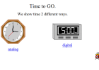 Time to go | Recurso educativo 42067