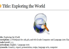 Webquest: Exploring the world | Recurso educativo 43120