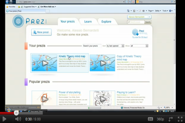 Prezi tutorial | Recurso educativo 49187
