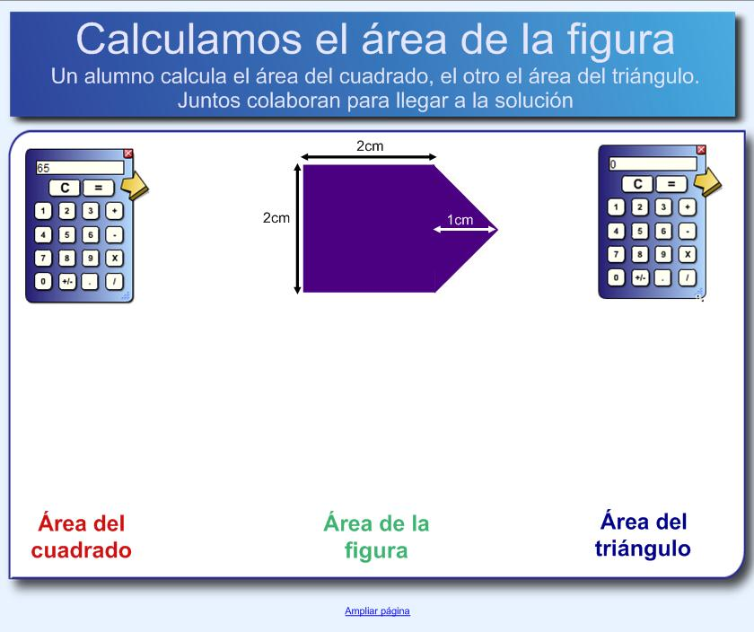 Calcular el área | Recurso educativo 49885