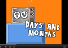 Song: TV days and months | Recurso educativo 50550