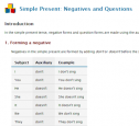 Simple present: Negatives and questions | Recurso educativo 52046