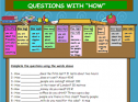 Questions with how | Recurso educativo 54190
