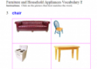 Furniture Vocabulary | Recurso educativo 60643