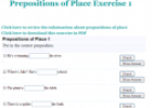 Prepositions of place exercise | Recurso educativo 61946