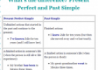 What's the difference? Present perfect and past simple | Recurso educativo 61960