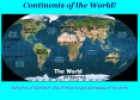 Continents of the world | Recurso educativo 10110
