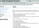 Simple Photographic Dictionary | Recurso educativo 22552