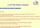 Reading: A letter from London | Recurso educativo 23950