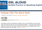 Website: ESL Aloud Podcast | Recurso educativo 32244