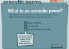 Writing an acrostic poem | Recurso educativo 7744