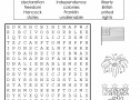 Independence day wordsearch | Recurso educativo 76984