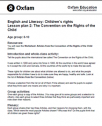 The convention on the rights of the child | Recurso educativo 78467