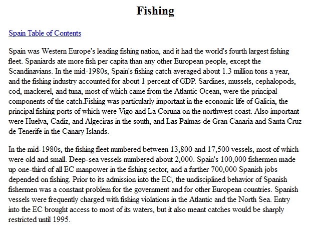 Spain - Fishing | Recurso educativo 90086