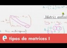 Tipos de matrices I | Recurso educativo 109442