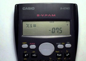 Ecuaciones con calculadora Casio fx-82 ms | Recurso educativo 116551