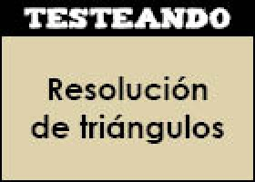 Resolución de triángulos | Recurso educativo 353100